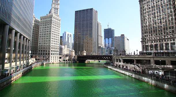 St Patrick's Day in Chicago, USA