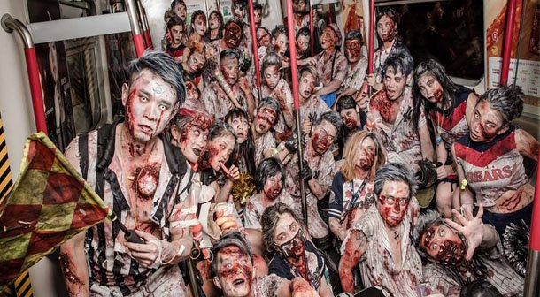 Zombies in Hong Kong. Photo by Arliugraphy