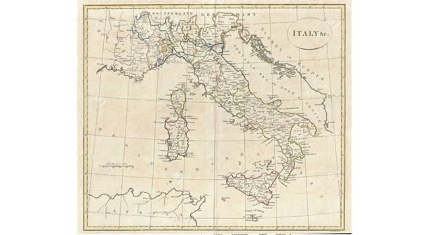 Italy_Old_Map_Photo_By_123rf